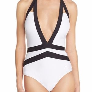 Ted Baker Ralinda Triangle Cut Out Swimsuit